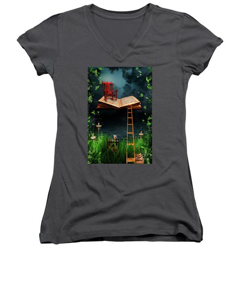 My Book Said Come Fly With Me Women's V-Neck (Athletic Fit)