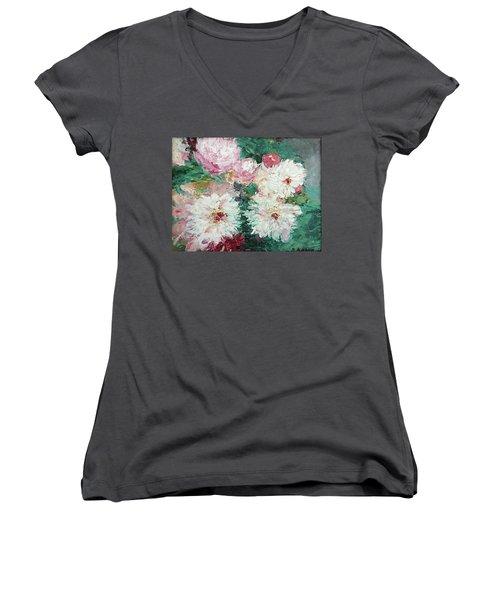 My Chrysanthemums Women's V-Neck (Athletic Fit)