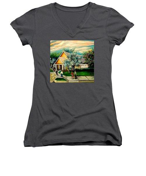 My Church Women's V-Neck T-Shirt (Junior Cut) by Yolanda Rodriguez