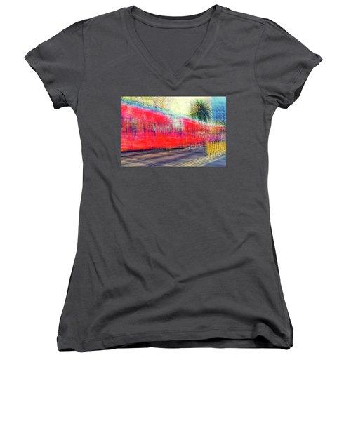 My City's Got A Trolley Women's V-Neck T-Shirt (Junior Cut)