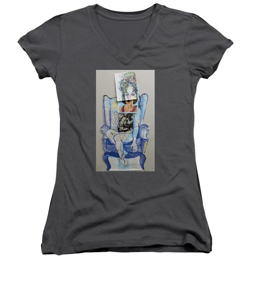 My Foot Is In Miami Women's V-Neck T-Shirt (Junior Cut)