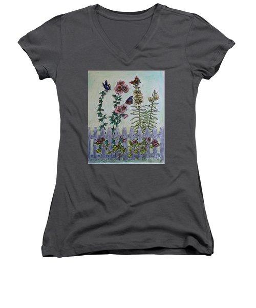 My Garden Women's V-Neck T-Shirt (Junior Cut) by Kim Jones