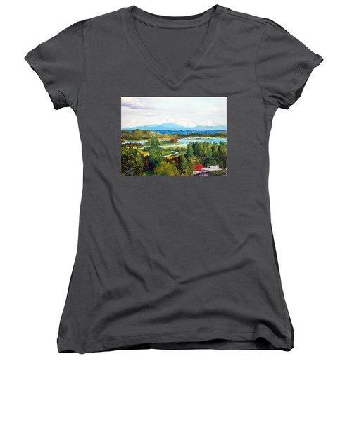 My Homeland Women's V-Neck T-Shirt