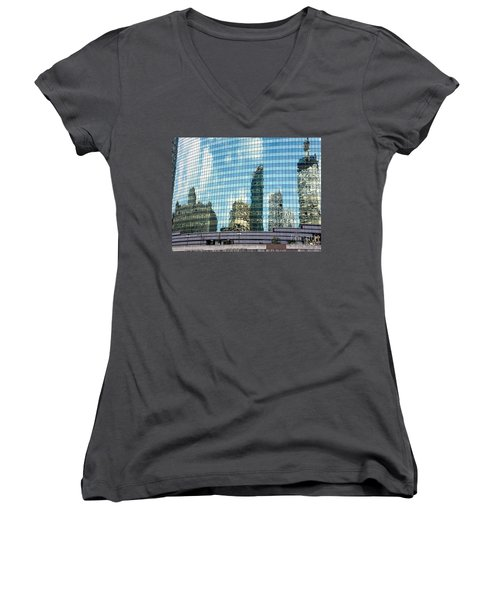 My Kind Of Town Women's V-Neck T-Shirt (Junior Cut) by Sandy Molinaro