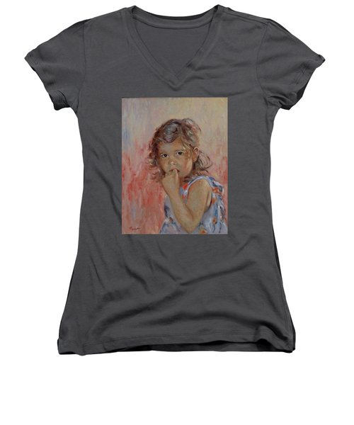 My Little Baby  Women's V-Neck T-Shirt