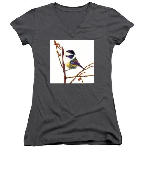 My Little Chickadee Women's V-Neck
