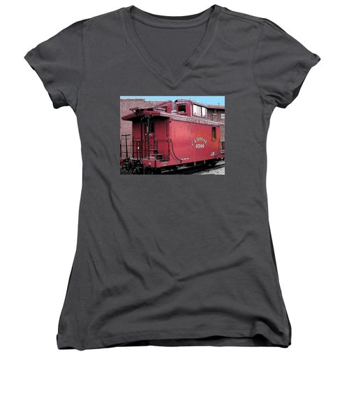 My Little Red Caboose Women's V-Neck (Athletic Fit)