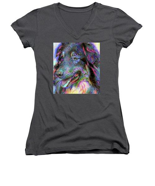 My Main Man Women's V-Neck T-Shirt