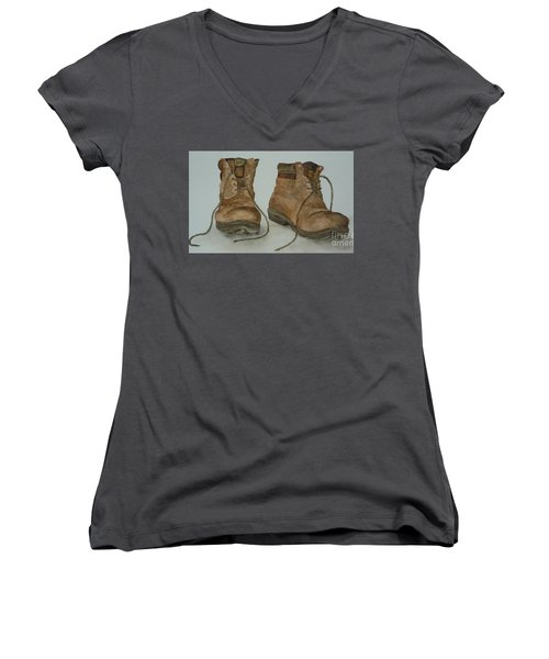 My Old Hiking Boots Women's V-Neck T-Shirt