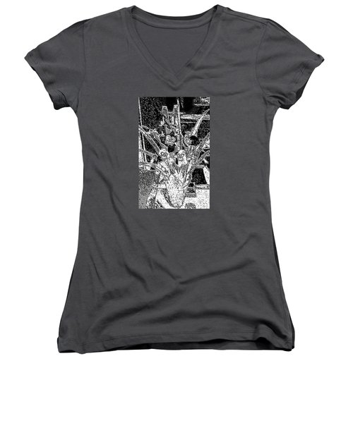 My Orchids Women's V-Neck T-Shirt (Junior Cut) by Vickie G Buccini