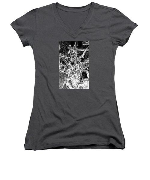 My Orchids Women's V-Neck T-Shirt (Junior Cut)