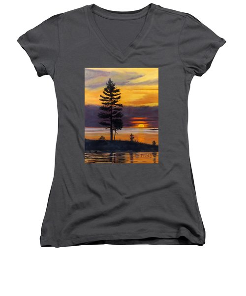 My Place Women's V-Neck T-Shirt (Junior Cut)