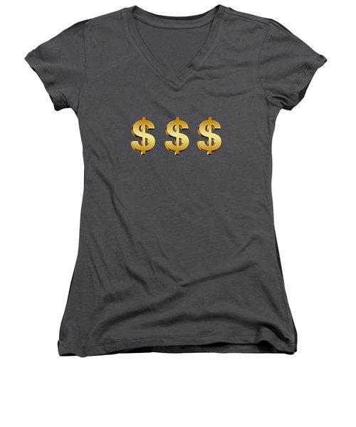 My Prosperity Mind Women's V-Neck (Athletic Fit)