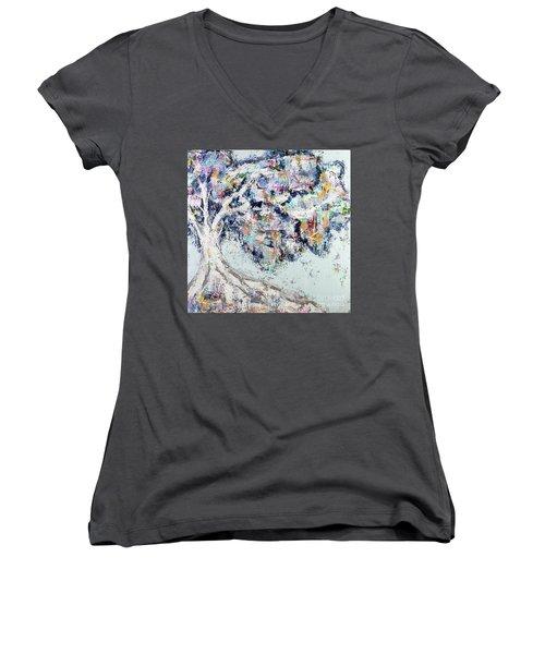 My Secret Hideout Women's V-Neck T-Shirt (Junior Cut) by Kirsten Reed