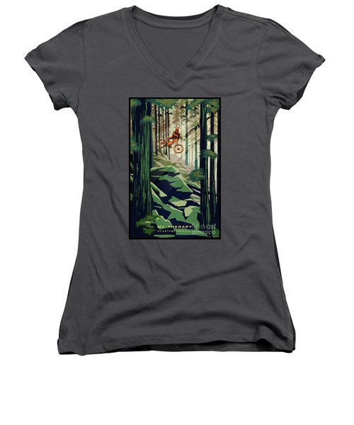 My Therapy Women's V-Neck (Athletic Fit)