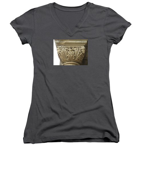 Women's V-Neck T-Shirt (Junior Cut) featuring the photograph My Weathered Friend by John King