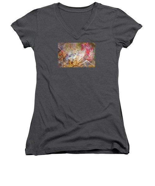 Myrtle Warbler Three Women's V-Neck T-Shirt