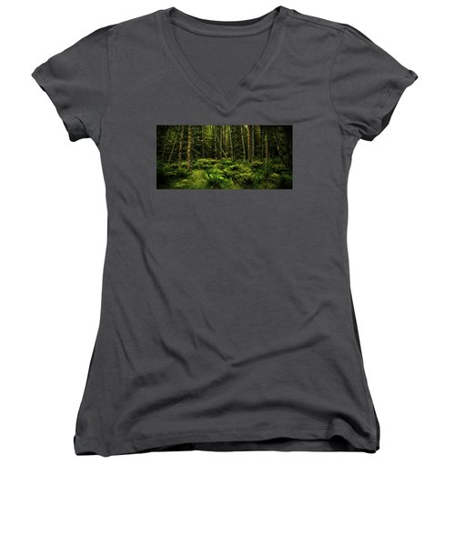 Mysterious Forest Women's V-Neck