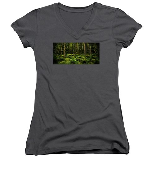 Mysterious Forest Women's V-Neck T-Shirt