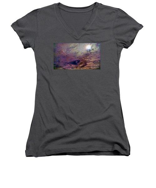 Mystery Sky Women's V-Neck T-Shirt