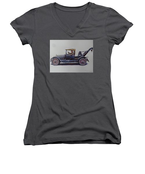 Mystery Wrecker 1930. Women's V-Neck T-Shirt (Junior Cut) by Mike  Jeffries
