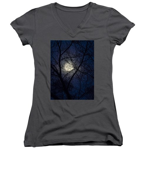 Mystic Moon Women's V-Neck T-Shirt