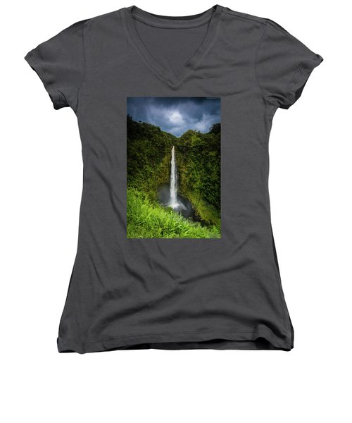 Mystic Waterfall Women's V-Neck