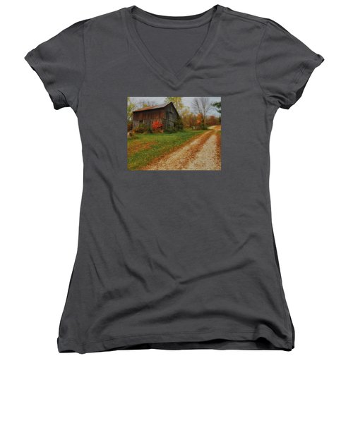 Mystical Country Lane  Women's V-Neck