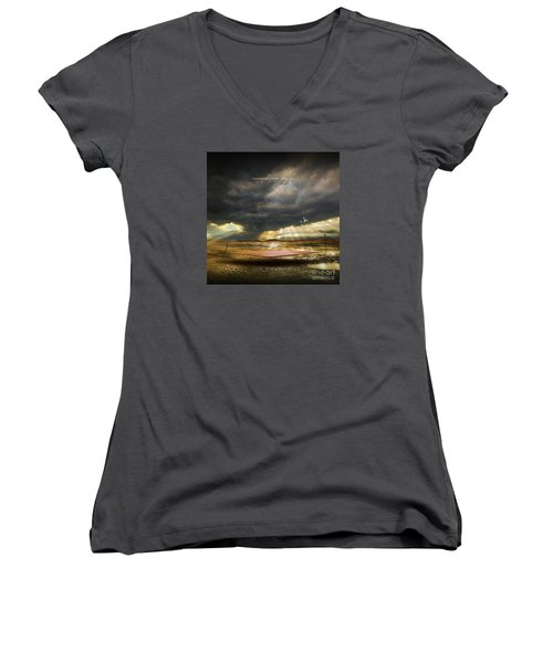 Mystical Light Women's V-Neck T-Shirt
