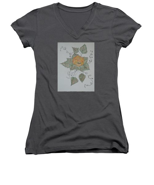 Nana Rose Is Here Women's V-Neck T-Shirt (Junior Cut) by Sharyn Winters