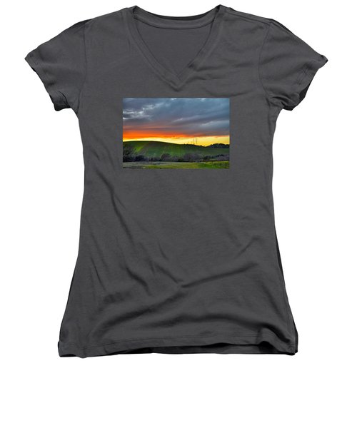 Napa Sunrise Women's V-Neck (Athletic Fit)