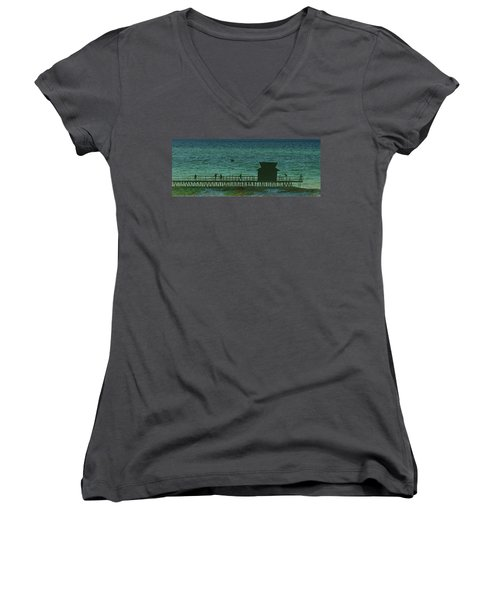 Naples Pier Women's V-Neck