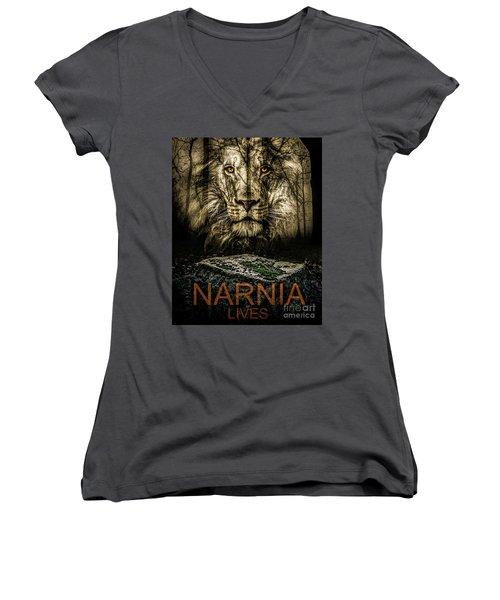 Narnia Lives Women's V-Neck