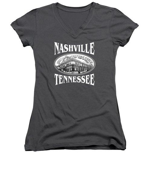 Nashville Tennessee Design Women's V-Neck (Athletic Fit)