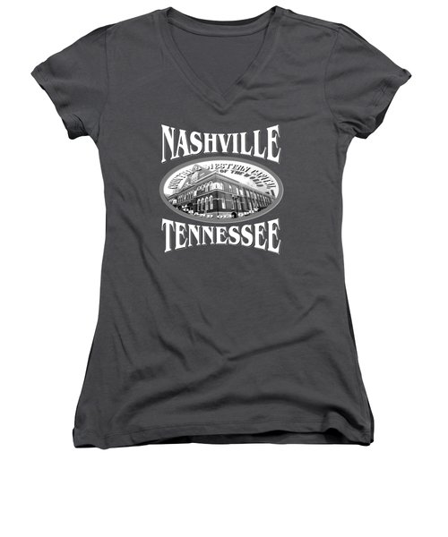 Nashville Tennessee Design Women's V-Neck (Athletic Fit)