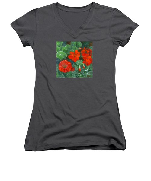 Nasturtiums Women's V-Neck