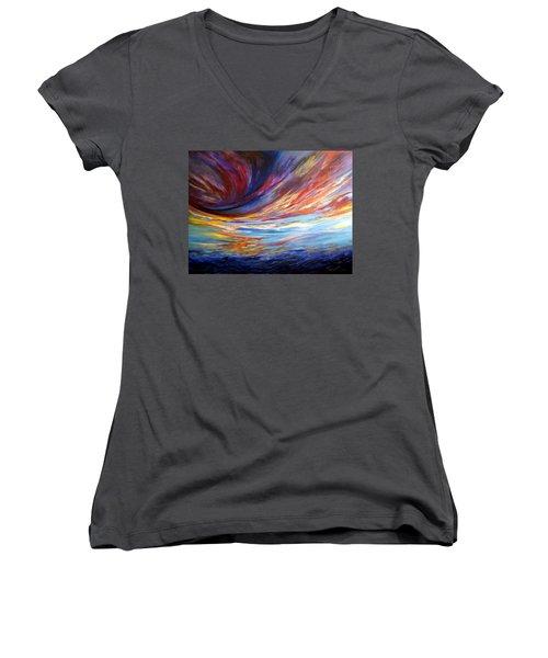 Natchez Sky Women's V-Neck T-Shirt
