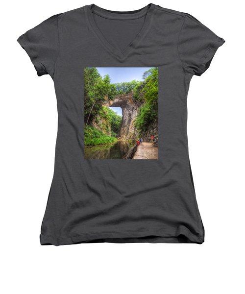 Natural Bridge - Virginia Landmark Women's V-Neck
