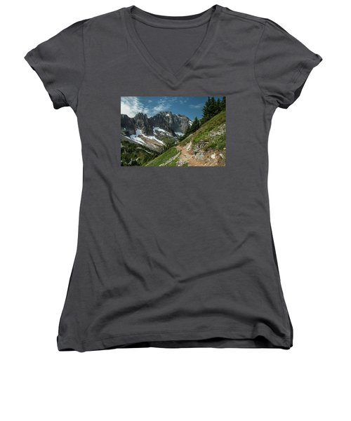 Natural Cathedral Women's V-Neck (Athletic Fit)
