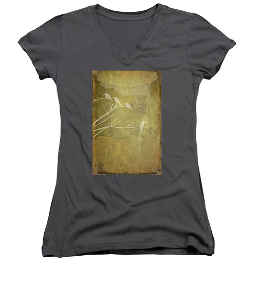 Nature Study In Gold  Women's V-Neck