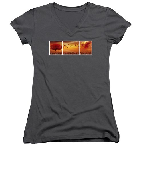 Nature's Art Women's V-Neck (Athletic Fit)