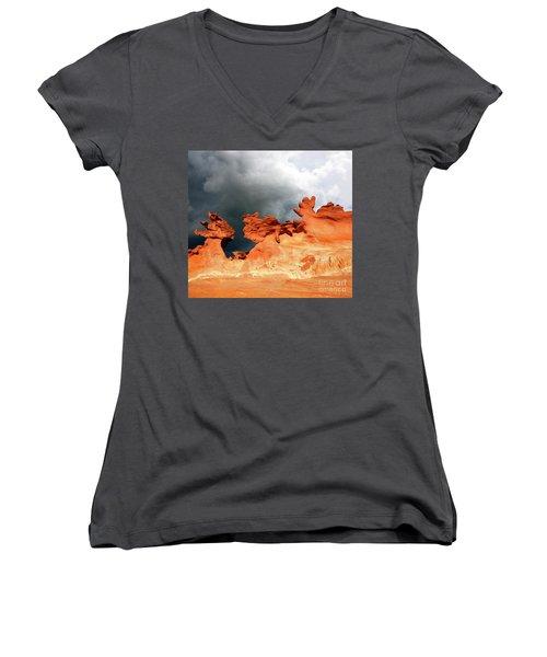 Nature's Artistry Nevada Women's V-Neck T-Shirt (Junior Cut) by Bob Christopher