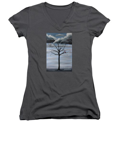 Nature's Power Women's V-Neck T-Shirt (Junior Cut) by Stacey Zimmerman