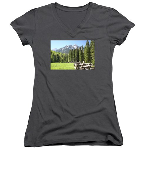 Nature's Song Women's V-Neck T-Shirt (Junior Cut) by Eric Glaser