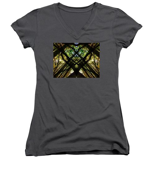 Natures Stain Glass Women's V-Neck (Athletic Fit)