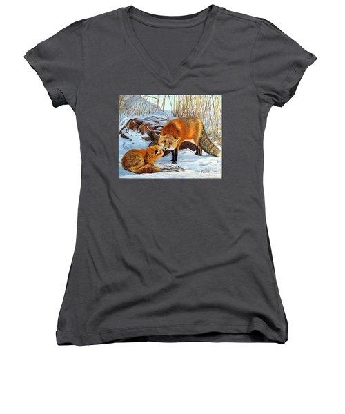 Natures Submission Women's V-Neck T-Shirt (Junior Cut)