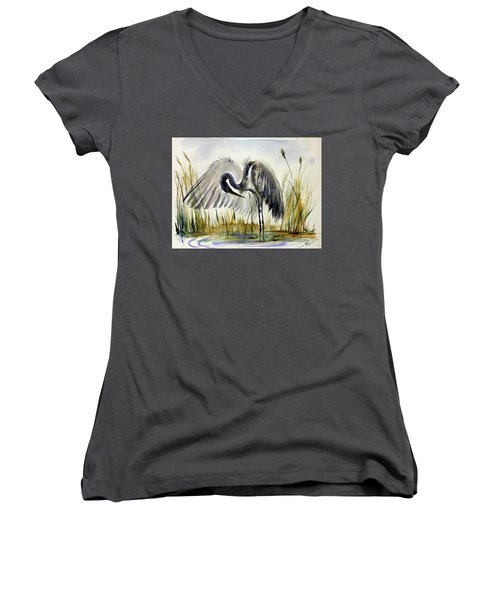 Near The Pond 3 Women's V-Neck (Athletic Fit)