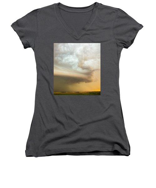 Nebraska Thunderstorm Eye Candy 005 Women's V-Neck