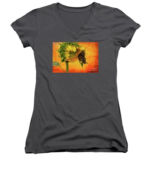 Nectar Time Women's V-Neck T-Shirt (Junior Cut) by Geraldine DeBoer