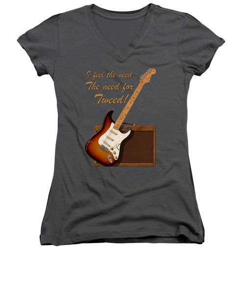 Need For Tweed T Shirt Women's V-Neck (Athletic Fit)